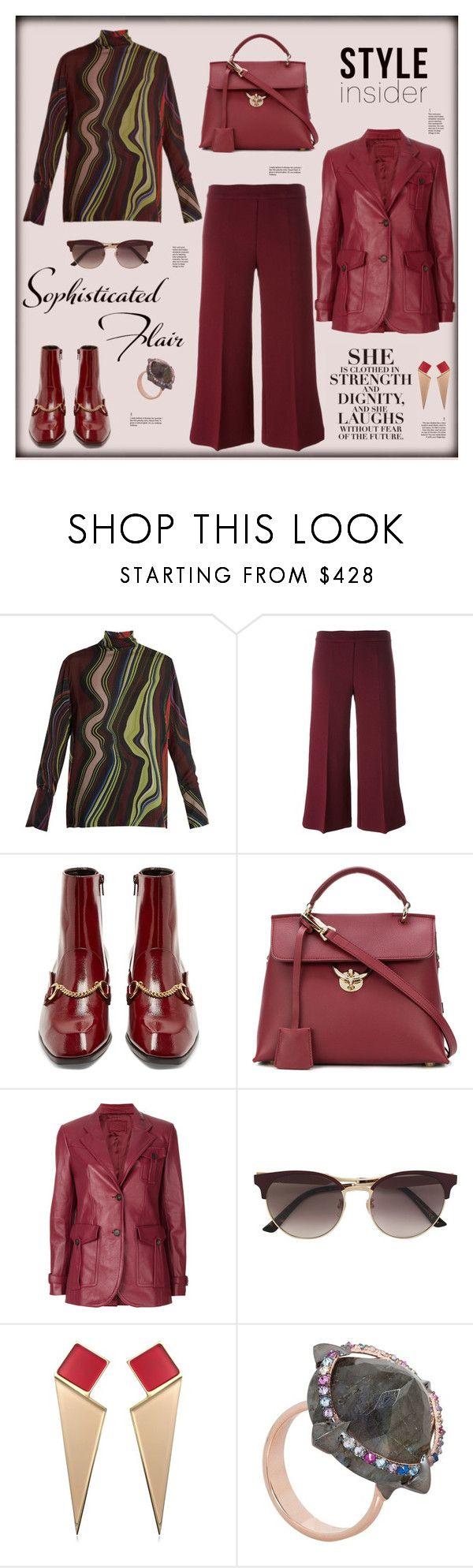 """""""Style insider"""" by zabead ❤ liked on Polyvore featuring BY. Bonnie Young, P.A.R.O.S.H., STELLA McCARTNEY, Salvatore Ferragamo, Prada, Gucci, Sylvio Giardina and Katie Rowland"""