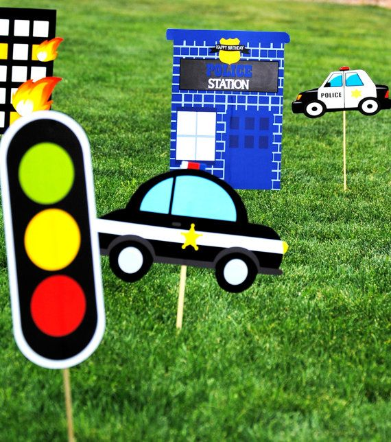 POLICE Party POLICE Cars Policeman Birthday by KROWNKREATIONS