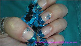 *Entre esmaltes y potingues*: Tutorial Uñas Nail-Art -Aquamarine-