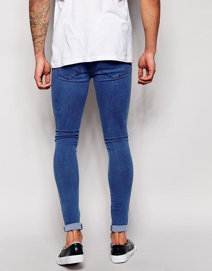Dr Denim | Dr Denim Jeans Plenty High Spray On Extreme Super Skinny Light Stone Wash at ASOS