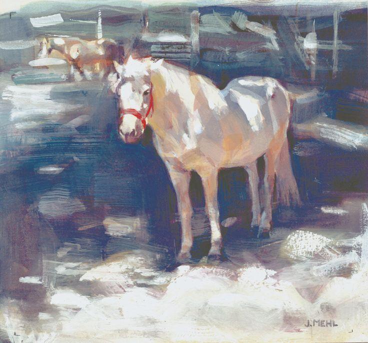 "Original Gouache Painting 8""x 7.5"" (unframed) Equine Equestrian Art Icelandic…"