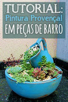 Passo a passo: Pintura Provençal em Vaso de Cerâmica