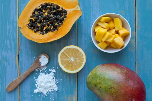 Tropical Face Peel and other Natural DIY fruit face washes