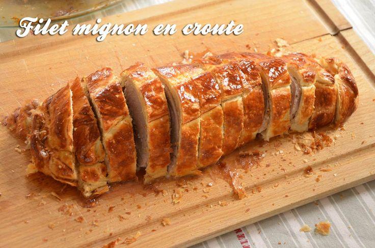 Recette de filet mignon en croute, un plat plein de saveurs et à la présentation originale ! Le filet mignon de porc est cuit dans de la pâte feuilletée...