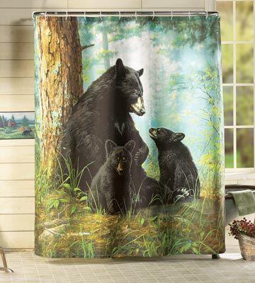 Bear Necessities Northwoods Shower Curtain
