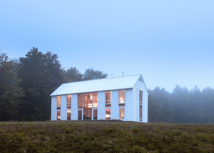 contemporary white barn