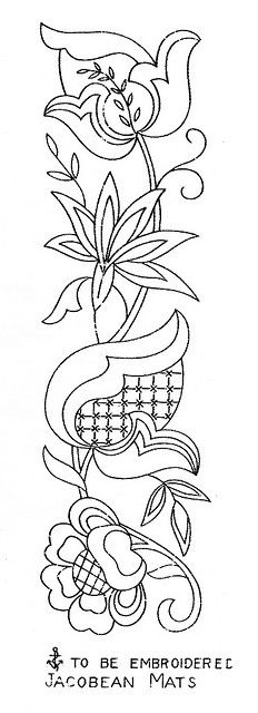Jacobean Embroidery Design