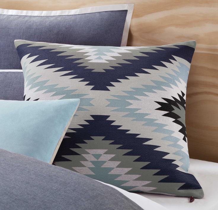 Kiva European Pillowcase - Navy
