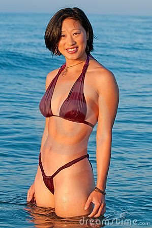 Asian women in bikini