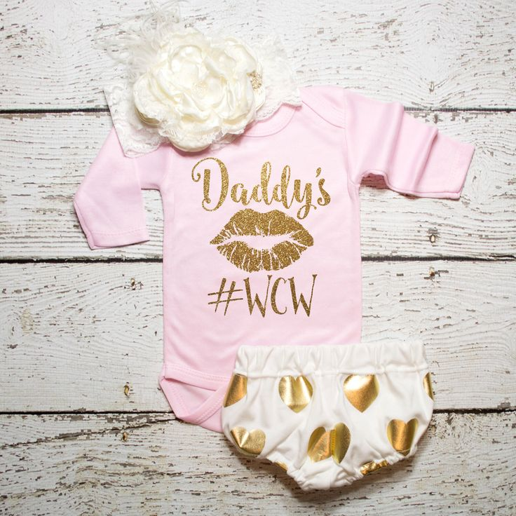 Baby Girl Clothes Daddy's #WCW Shirt Sparkle Shirt Baby Shower Gift Bodysuit Baby Girl Shirt Sparkle Shirt Glitter Shirt Baby Gift #16 by ShopVivaLaGlitter on Etsy https://www.etsy.com/listing/253653256/baby-girl-clothes-daddys-wcw-shirt