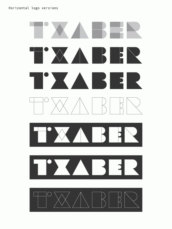 Txaber logotype by Txaber , via Behance