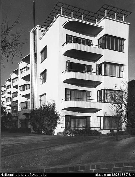 Frederick Romberg Newburn flats, 1939.