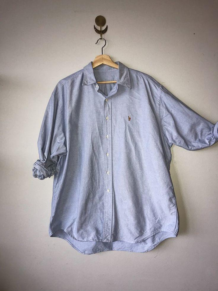 Blue Cotton Button Up