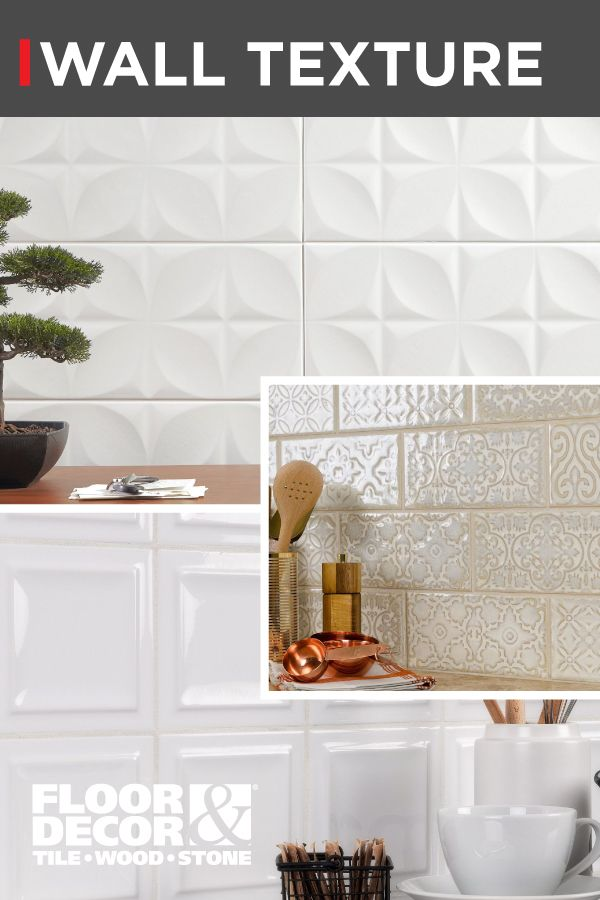 Don T Let Your Design Fall Flat Dimensional And Textured Tile Can Turn A Boring Wall Into An Artistic Acce Textured Walls Floor Decor Fish Scale Tile Bathroom