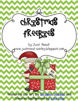 By request, I have created a Christmas Freebies packet similar to my Thanksgiving Freebies.  Please follow my TPT store and my blg so you can always be up to date with my freebies, new packets, and classroom ideas/events!  Www.justreed-ashley.blogspot.com  Enjoy these freebies!!