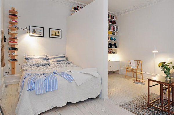 Arredare un bilocale bedroom nel 2019 dividir for Arredare un seminterrato
