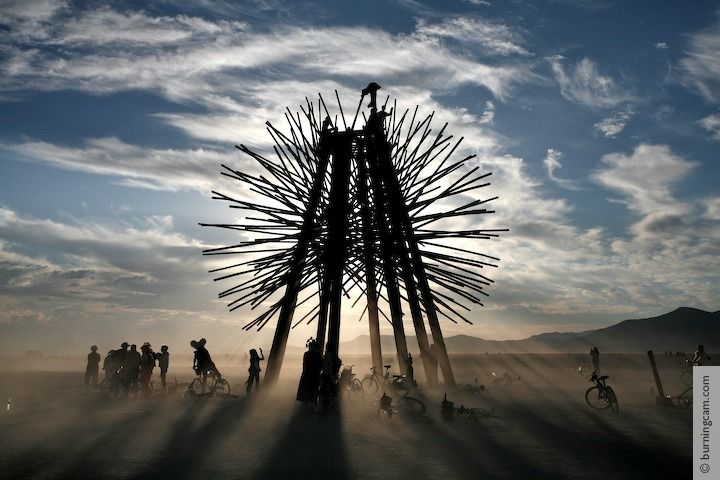 Burning Man 2006 - Starry Bamboo Mandala © 1998-2007 NK Guy