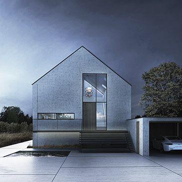BAKS ARKITEKTER - Vertical House, Denmark. Nordic architecture, house, design, scandinavian, texture, oak, concrete, beton, night scene, danish, minimalistic