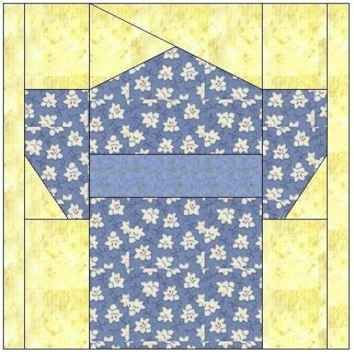 All stitches - kimono paper piecing quilt block pattern