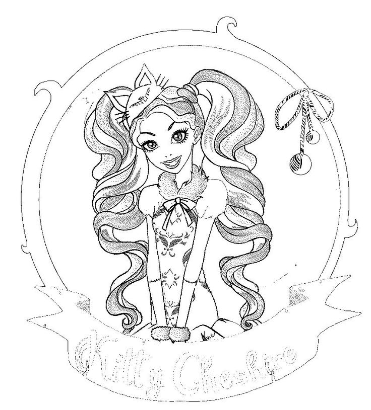 Ever After High Colouring Pages Kitty Cheshire