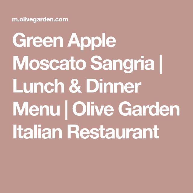 Green Apple Moscato Sangria | Lunch & Dinner Menu | Olive Garden Italian Restaurant