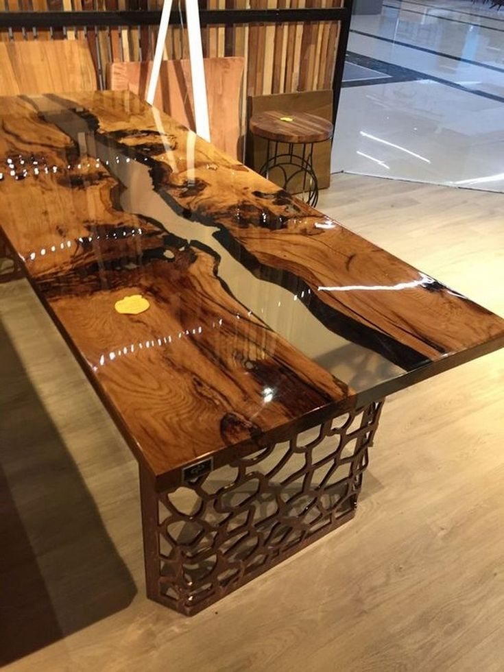 40 extraordinary resin wood table ideas for your home