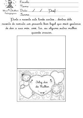 Caixinha Mágica de Ideias: Atividades do Dia Internacional da Mulher - 8 de março