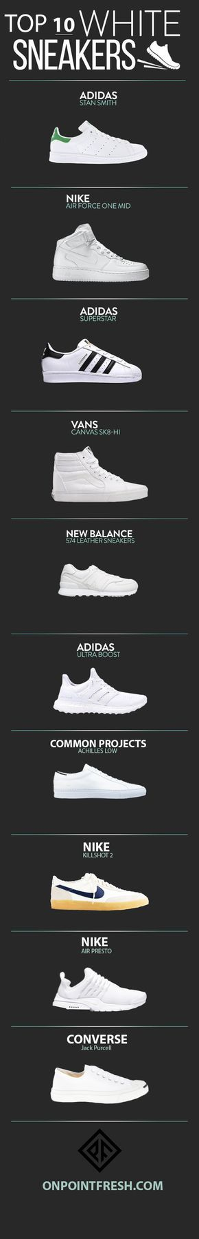 top-10-white-sneakers-infographic                                                                                                                                                                                 Más