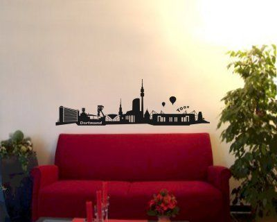 Wandtattoo - Wandtattoo Skyline Dortmund + Stadion - ein Designerstück von plot4u bei DaWanda