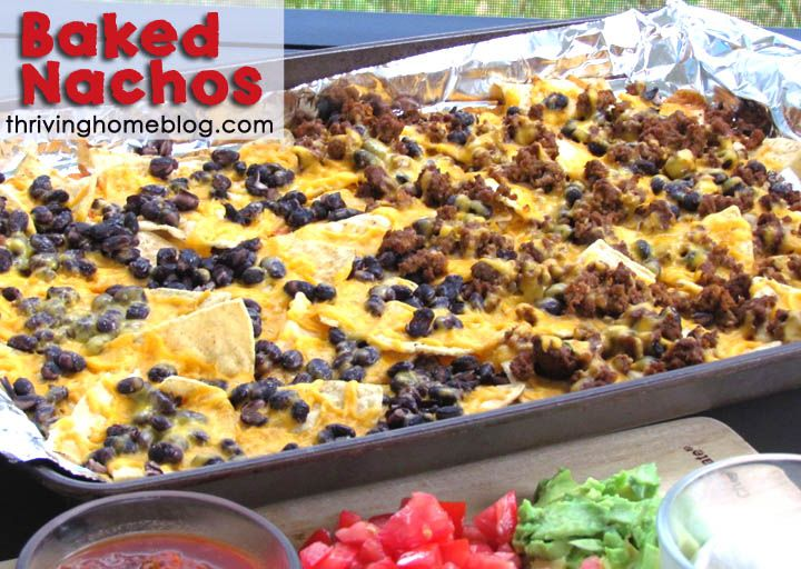 Baked Nachos - family-pleasing weeknight meal