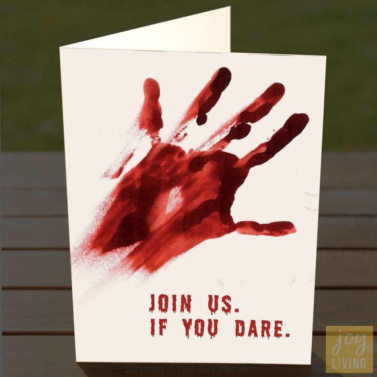 halloween party invites bloody hand print adult teen multipack in home furniture - Halloween Party Songs For Teenagers