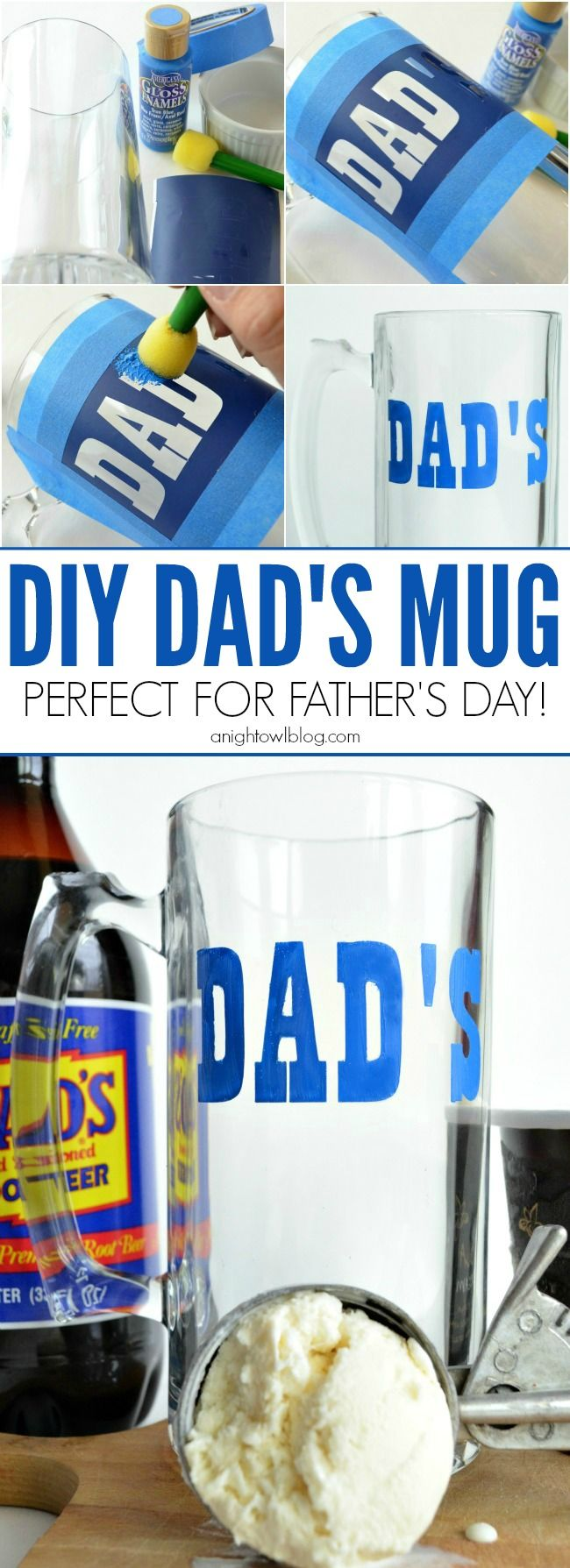 DIY Dad's Mug - perfect gift for Father's Day!