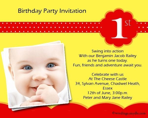 Best Pictures Birthday Invitations Message Suggestions For Anyone Who Is On 1st Birthday Party Invitations Boy Birthday Party Invitations Boy Party Invitations