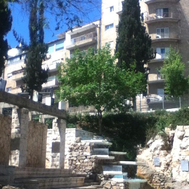 Jerusalem, Israel.  Small park in the city center.