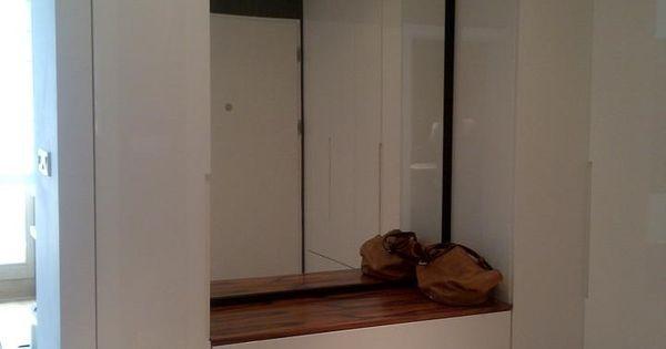 Mieszkanie 43m IXX dzielnica - Hol / przedpokój, styl nowoczesny - zdjęcie od chic2chic | Tymczasowa | Pinterest | Dulapuri și Idei decorațiuni