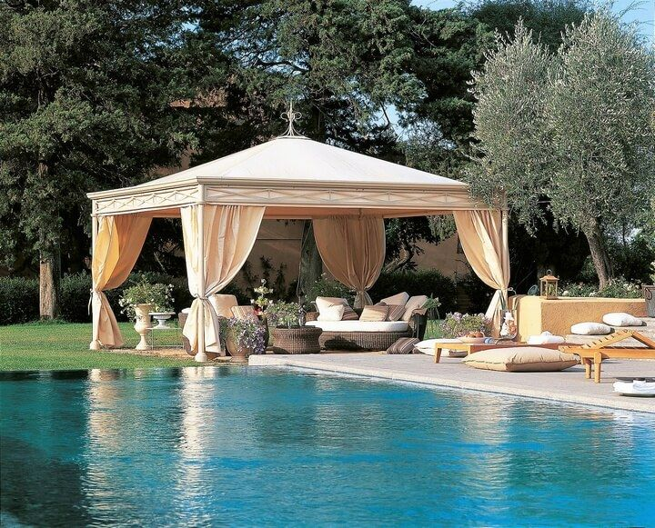 Pool Gazebo Ideas including a bar in your poolside gazebo is a brilliant idea you can serve drinks Beautiful Gazebo Designs For Your Swimming Pool