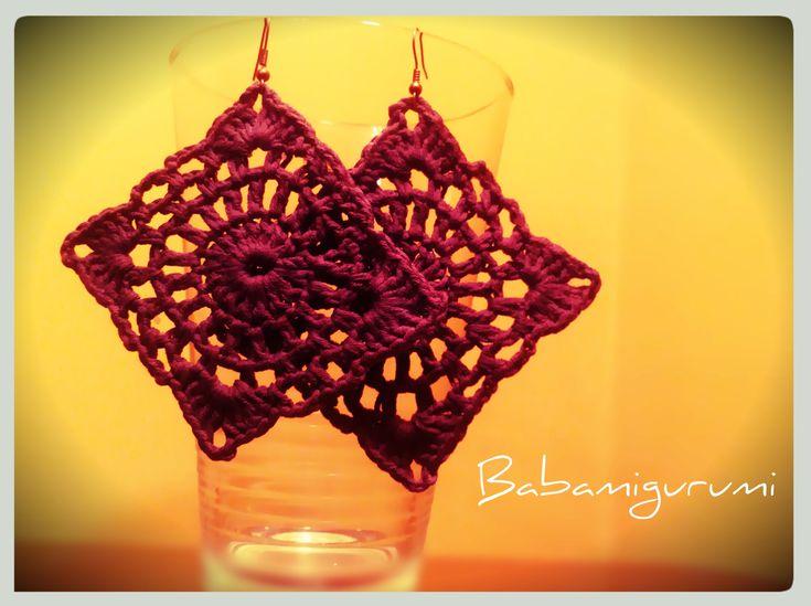 Crochet earrings FREE pattern