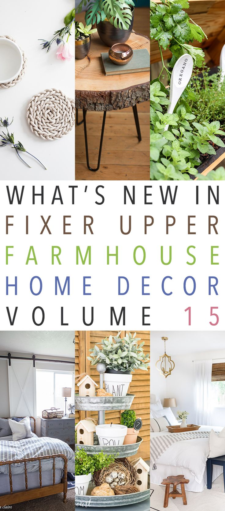 Hi there my Friends.  It's Sunday so that means it is time for What's New In Fixer Upper Farmhouse Home Decor and we are now on Volume 15!  As long as everyone enjoys this Sunday Special…we will continue to bring it to you : )  Today you will see some DIY Projects with a Farmhouse Flair…a …