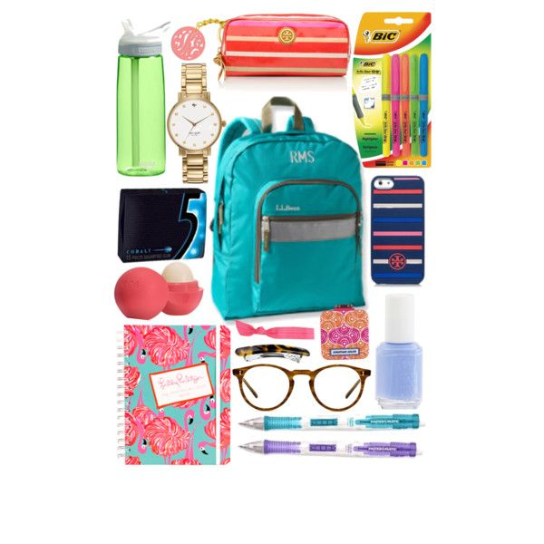 """what's in my backpack?"" by norabrasher on Polyvore"
