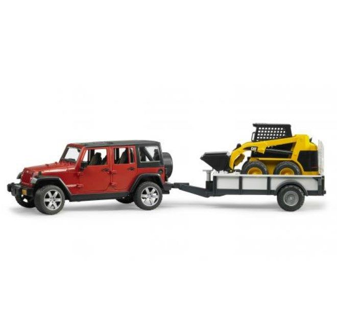 Bruder Jeep Rubicon w/ Trailer and Cat Skid Steer 2925 by Bruder Toys  for $65.00 in Bruder Toys - Brands : Rural King