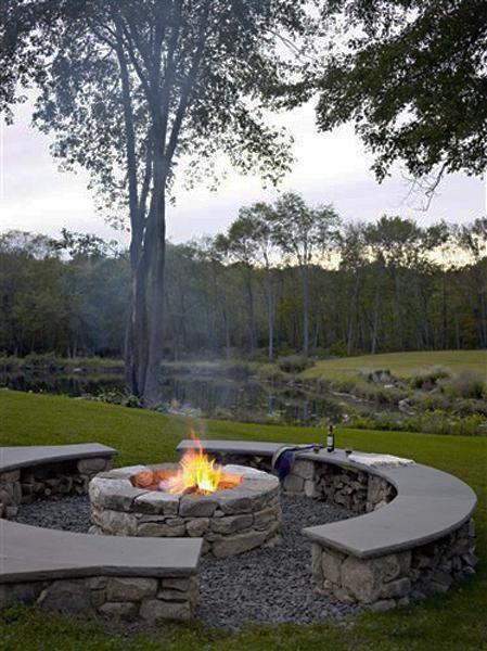 zonas de estar al aire libre, diseños e ideas de patio del patio trasero para el otoño