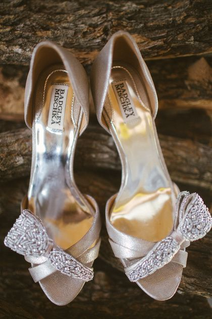 winter wedding shoes badgley mischka pearl jeweled champagne metallic satin d 1448