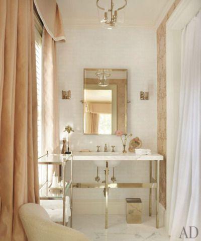 Soft Peach Drapery In Bath...suzanne kasler