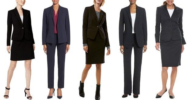 95c9e9431fce The Best Women's Suits of 2018: Affordable, Designer, and Everything In  Between - Corporette.com. Wardrobe Essentials for Work: A Great Start ...