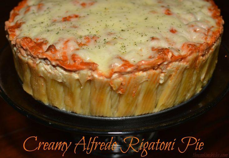 Creamy Alfredo Rigatoni Pie