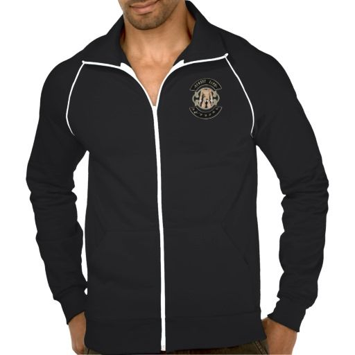 BadBoys gold logo with man with a gun in his pants Track Jacket