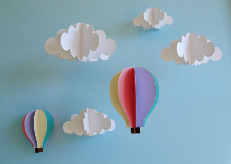 64 best images about hot air balloon decor on pinterest for Balloon cloud decoration