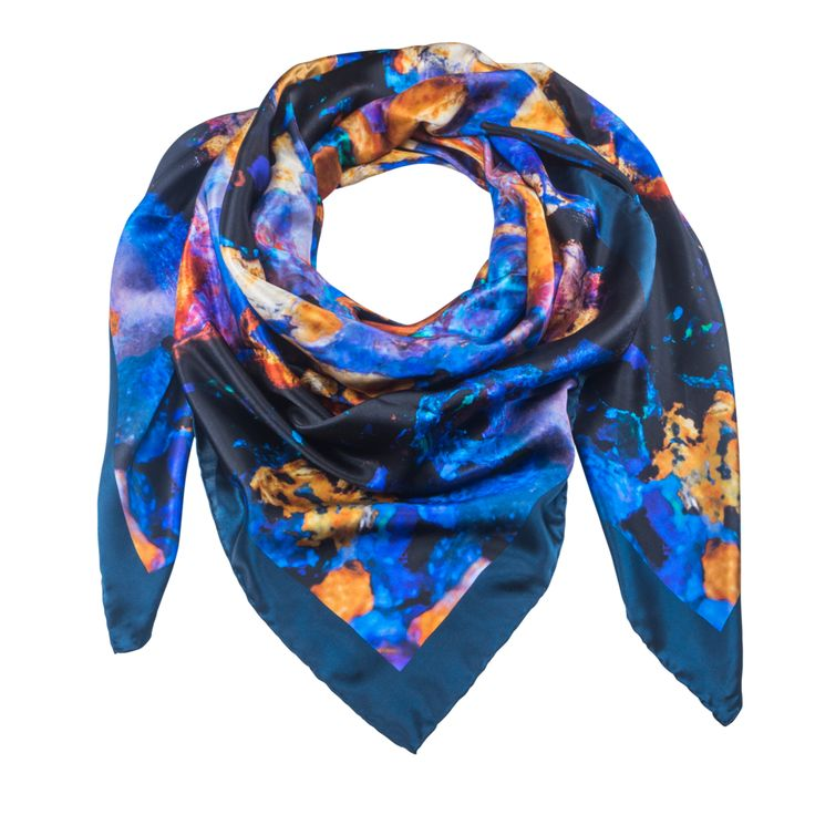 Indus 2 - Silk Scarf - Celestial Collections – Silk and Stone
