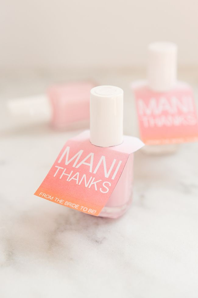 Free Printable DIY Wedding Nail Polish Tags