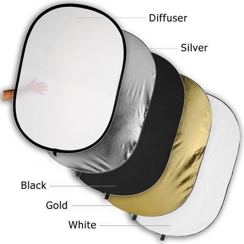 """Fotodiox Pro 48x72"""" 5-in-1 Collapsible Oval Reflector, Si..."""
